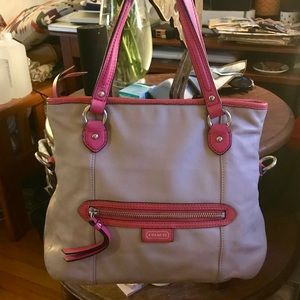Coach convertible leather hobo!